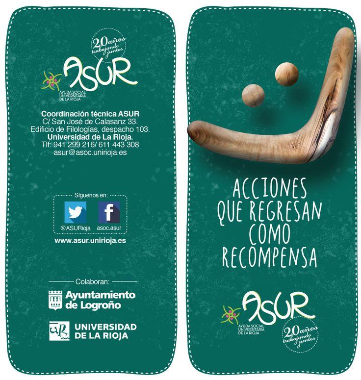 Ayuda Social Universitaria de La Rioja (ASUR) busca jóvenes estudiantes de la Universidad de La Rioja interesados en colaborar en diversos proyectos sociales de su comunidad.  Formar parte activa de la Red de Voluntariado Universitario de ASUR, permite desarrollar capacidades para enriquecerse a nivel personal y profesional de una forma práctica, mientras se ayuda a los demás. http://www.unirioja.es/apnoticias/servlet/Noticias?codnot=4273&accion=detnot