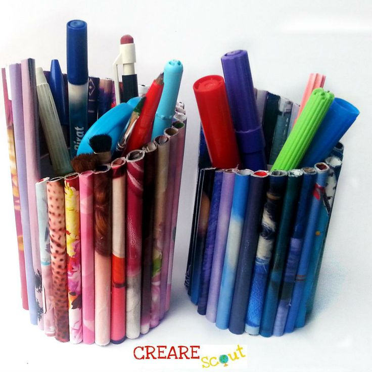 rolled paper pencil holder | Reduce, Recycle, Reuse ...