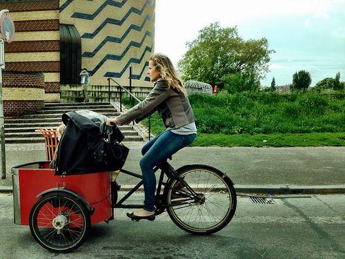 Copenhagen on bike - Christiana bikes Copenhagen, Denmark