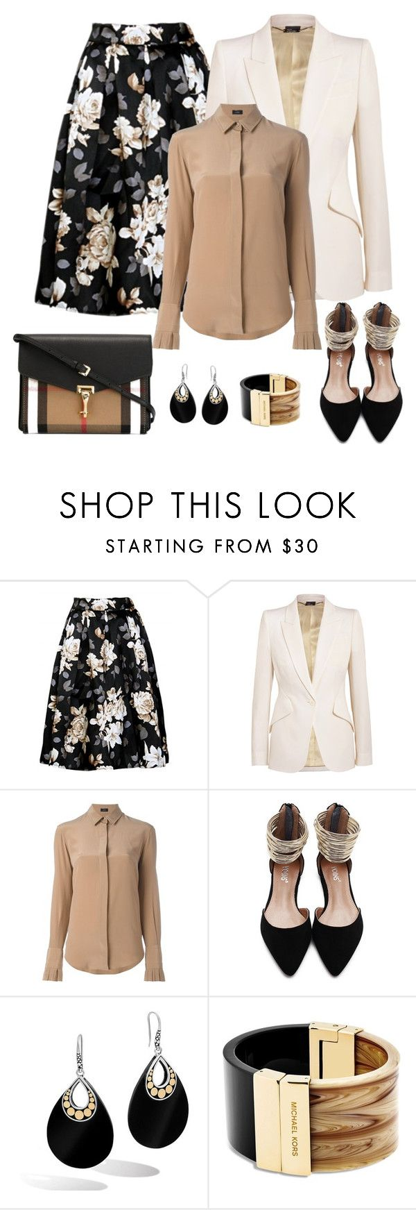 """""""Untitled #1118"""" by gallant81 ❤ liked on Polyvore featuring Alexander McQueen, Joseph, John Hardy, Michael Kors and Burberry"""