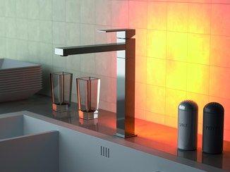 Torneira misturador da cozinha de bancada com 1 furo Q-AMBIENT | Torneira…
