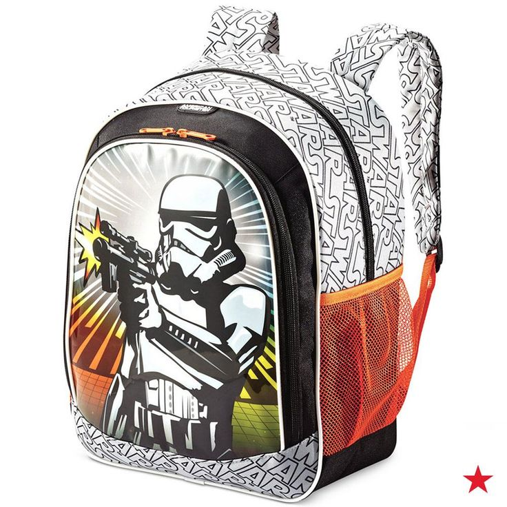 Get your little one fired up for school with this Star Wars backpack by American Tourister, complete with Stormtrooper graphics and plenty of pockets to keep everything organized.