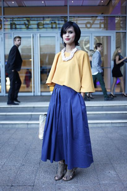 This girl rocks this vintage look! Mercedes Bens Fashion Week- Cape Town