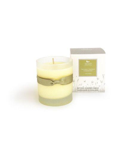Uplifting candle - Geranium, Mandarin and Spearmint