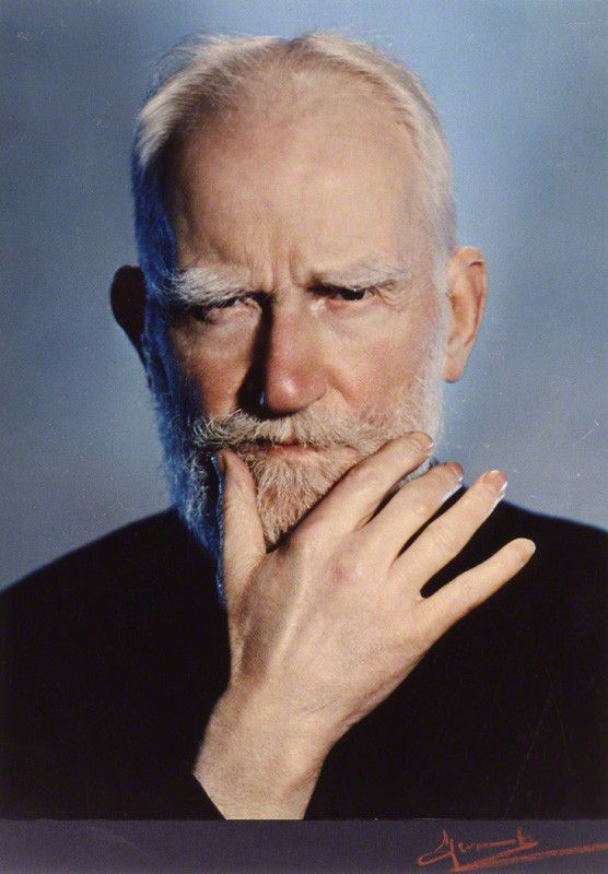 George Bernard Shaw- A minor writer, but highly intelligent  and humorous.