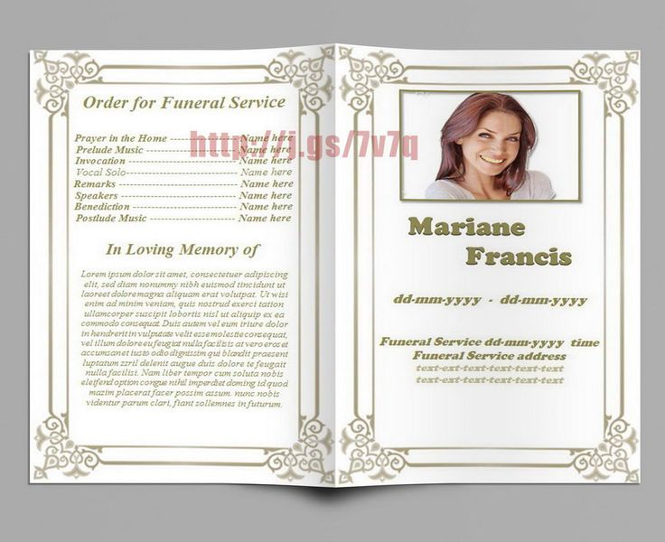 74 Best Funeral Program Templates For Ms Word To Download Images On