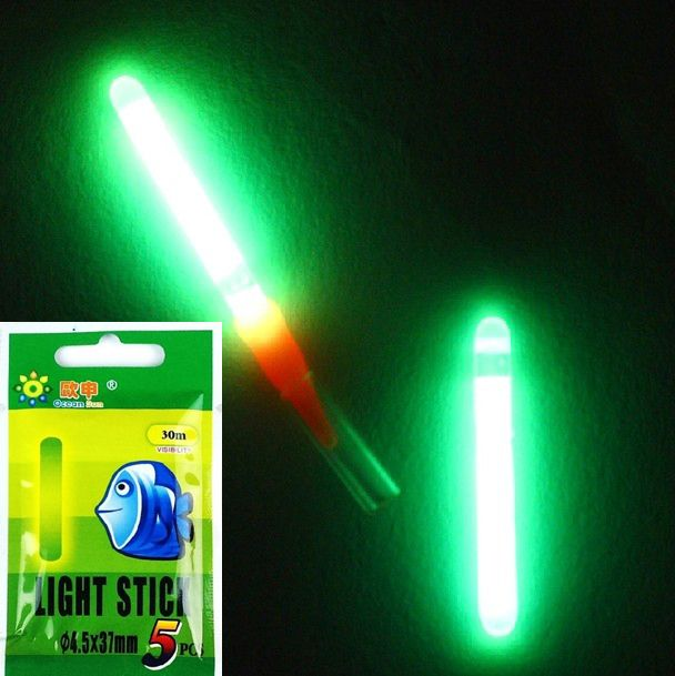 Lot 30pcs/6bags 4.5*37mm Chemical Lights Fishing Fluorescent Dark Glow sticks fishing tackle