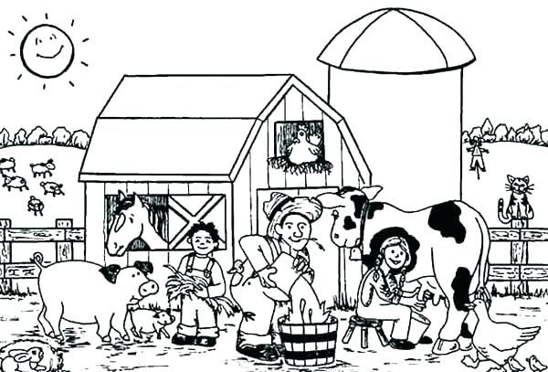 Clipart Colouring Pictures Black And White Google Search Farm Animal Coloring Pages Farm Coloring Pages Animal Coloring Pages