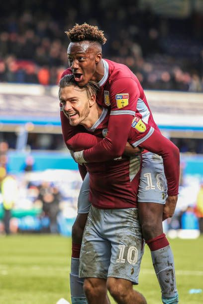 ff9e7d1bbef Jack Grealish and Tammy Abraham of Aston Villa celebrate after the full  time whistle during the Sky Bet Championship match between Birmingham City.