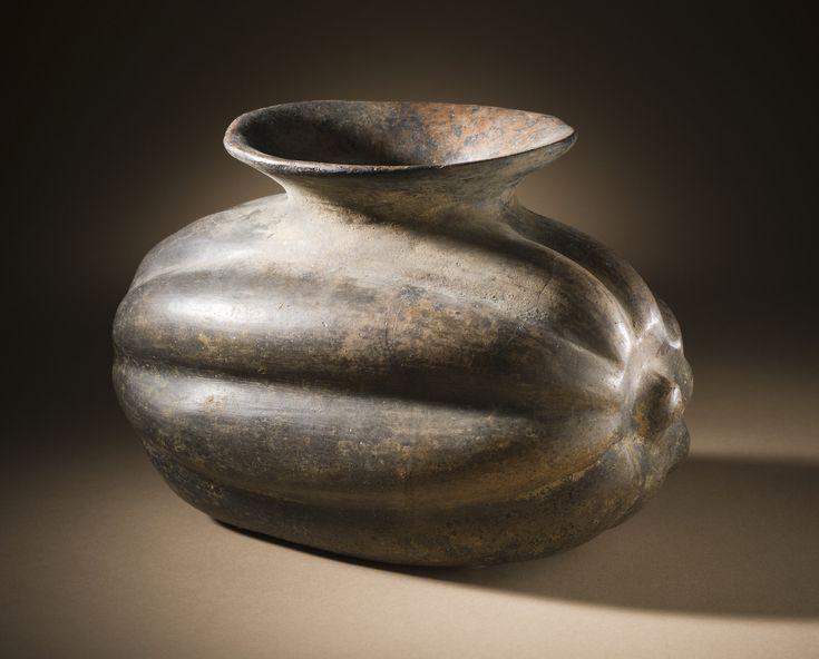 Squash vessel, made in Colima, Mexico, 200 BC-500 AD