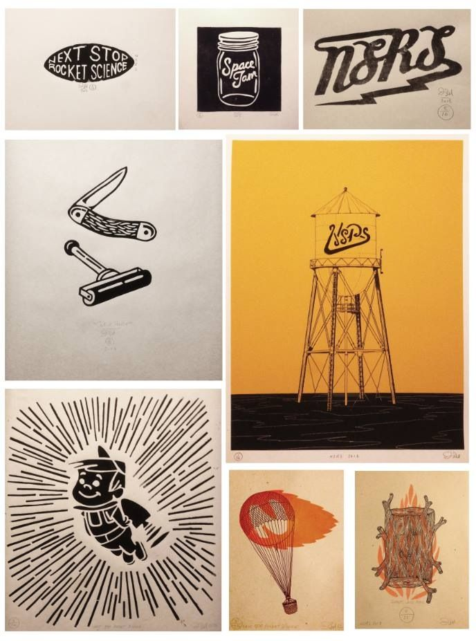 Collection of handmade prints