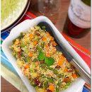 Salada de quinoa com vegetais
