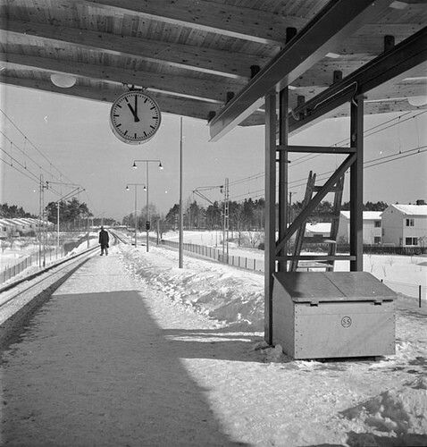 Tallkrogens tunnelbanestation, mot stan sett