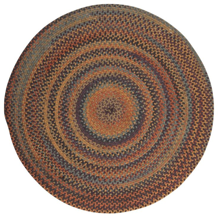 Rustica Round Braided Wool Rug, RU20 Floral Burst
