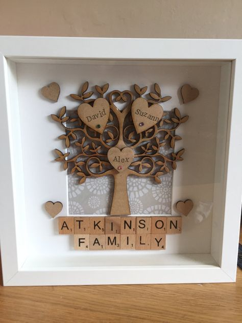 Handmade / personalised family tree frame by Cherishedmemories88