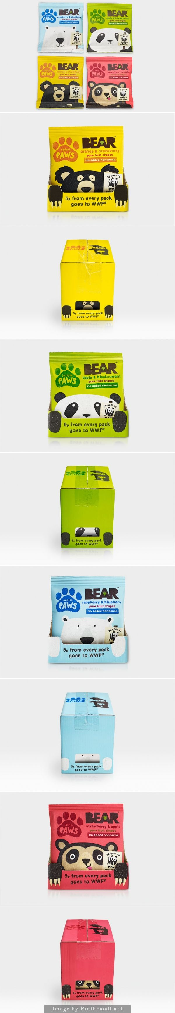 BEAR Paws #WWF #packaging by B&B- http://www.packagingoftheworld.com/2014/11/bear-paws.html