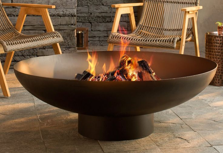 Nuria Steel Wood Burning Fire Pit