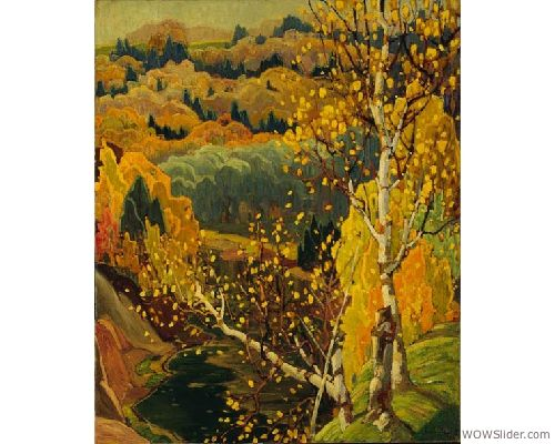 Franklin Carmichael (1890-1945), October Gold, 1922, Oil on canvas, 119.5 x 98 cm, Gift of the Founders, Robert and Signe McMichael, McMichael Canadian Art Collection