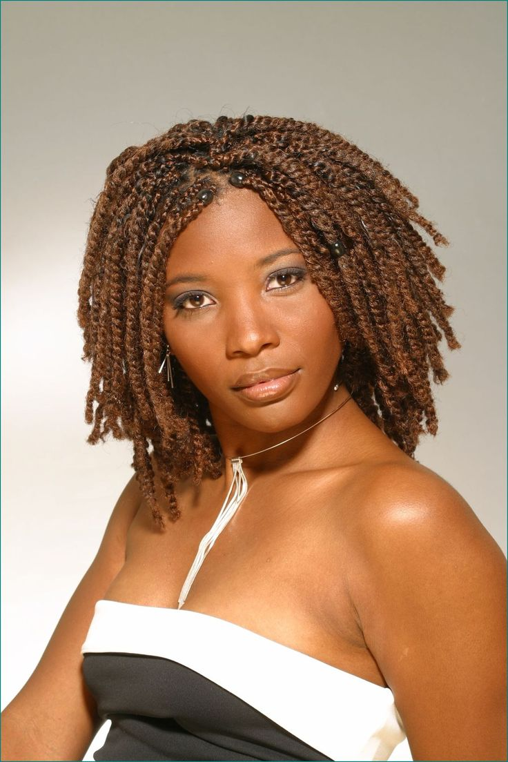 Natural Hairstyles For Medium Length Hair For Black Women - Natural hairstyles stylish pretty beautiful chic modern medium length natural twist hairstyles with beads red copper hair color images and pictures ideas
