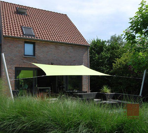 17 meilleures id es propos de voile d ombrage rectangulaire sur pinterest - Voile soleil terrasse ...