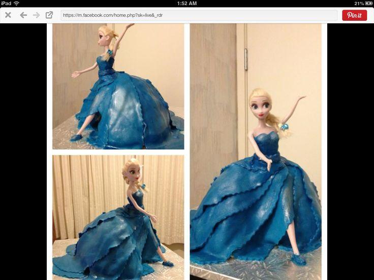 Frozen mad queen elsa cake 4th birthday 2015