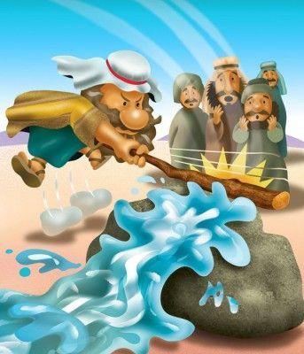 Agua de la roca   Después del gran milagro que hizo Dios al permitir que el pueblo de Israel cruzara el mar  Rojo, el pueblo se encontrab...