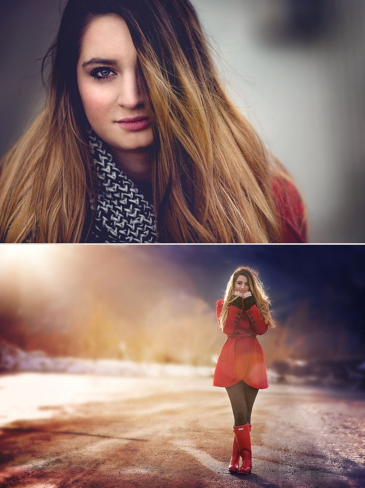 Natalie Roy Photography senior This girl rocked the red coat