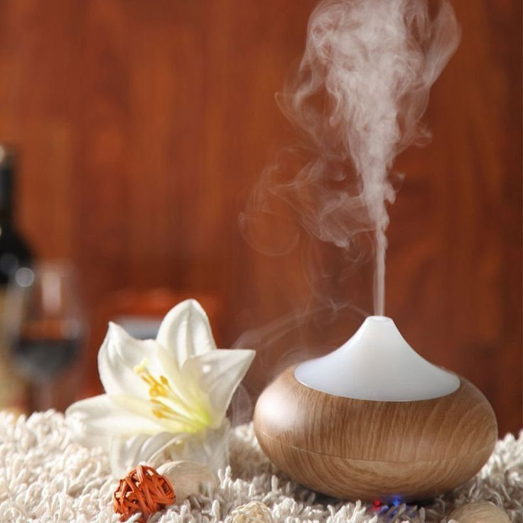 Turn on this stress-busting aroma diffuser + let your tensions melt away.