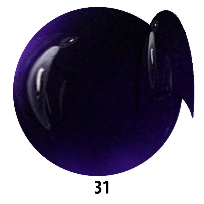 31. NTN Lakier żelowy UV - Blaulila -  Niebieski Fioletowy - 6ml
