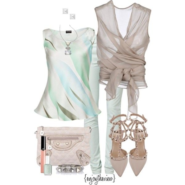 shades of bue & green by enjoytheview on Polyvore