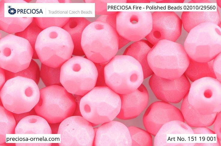 PRECIOSA Fire-Polished Beads - 151 19 001 - 02010/29560 - Melon | by PRECIOSA ORNELA