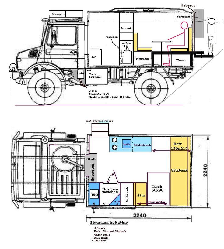 Unimog 435 U1300L Ambulance Camper Conversion Before