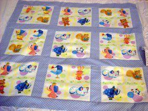 Retro Baby Blocks Blanket | FaveQuilts.com