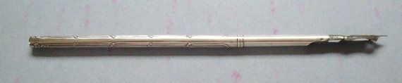 Antique French silver dip pen for use in an ink well