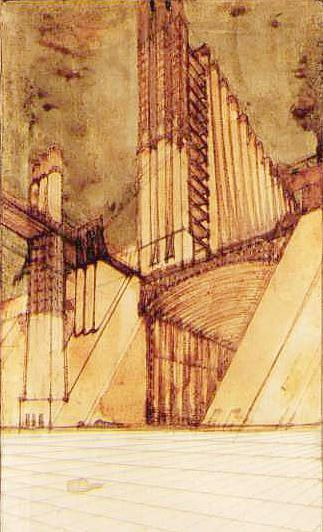 A. Sant'Elia - Study for the New City, 1914