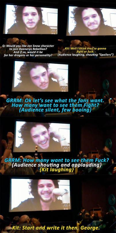 Kit Harington on Jon Snow and Daenerys