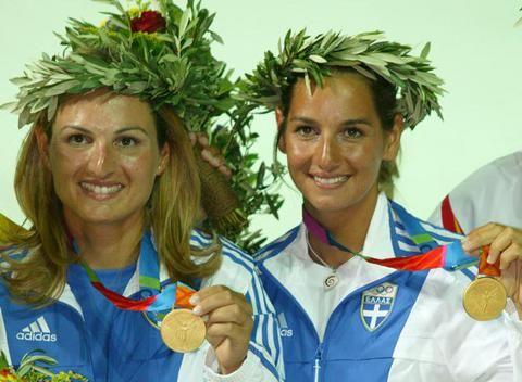 Athens 2004; Gold medal, Sofia Mpekatorou and  Aimilia Tsoulfa. Sailing 470