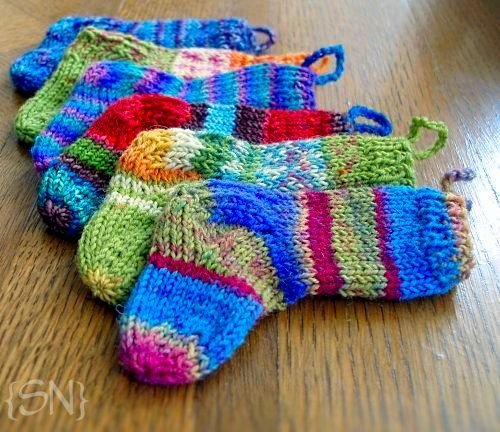 Crafting and Knitting Stocking Christmas Ornaments