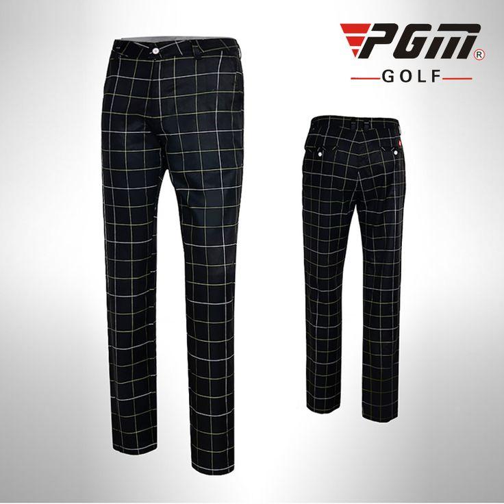 PGM Colorful Golf Pants For Men Plaid Men's Sports Pants 2017 Summer Men's Golf Clothing Brand Sports Trousers For Men Plus Size