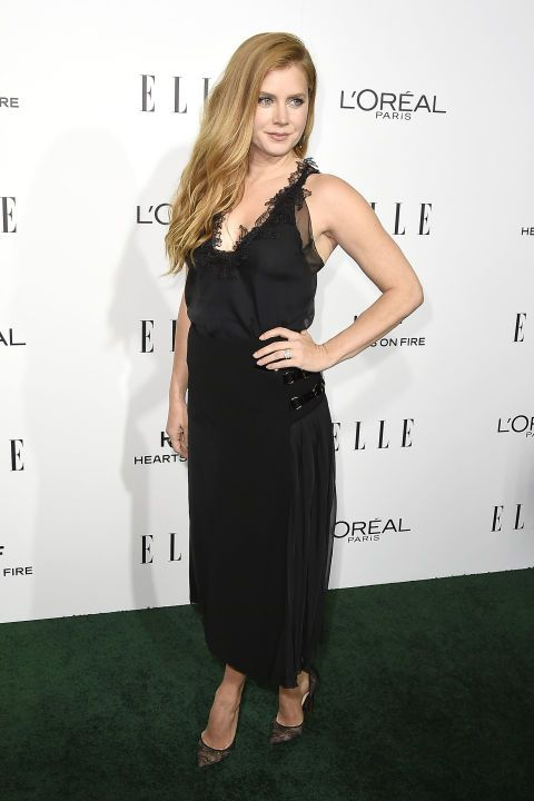Amy Adams smolders in a fitted black dress at the ELLE Women in Hollywood awards!