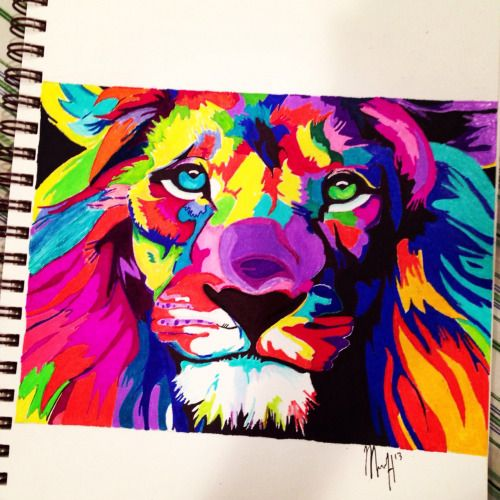 Colorful Sharpie Drawings | Sharpie and Color pencil