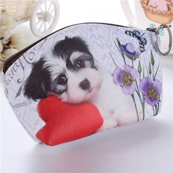 Cute Dog Coin Purse Wallet