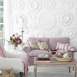 Lilac Sofa, Transitional, living room, Country Living
