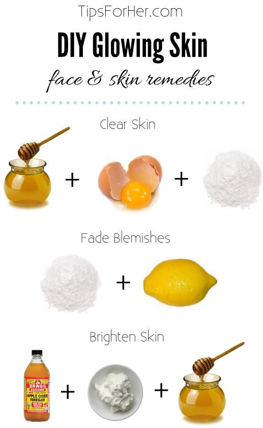 3 home remedies for keeping beautiful & glowing skin. You can try one or try them all! 1. For Clear Skin - Mix 1 egg yolk with 1 tbsp. Honey & 1 tbsp. Baking Soda until pasty. Apply to skin...