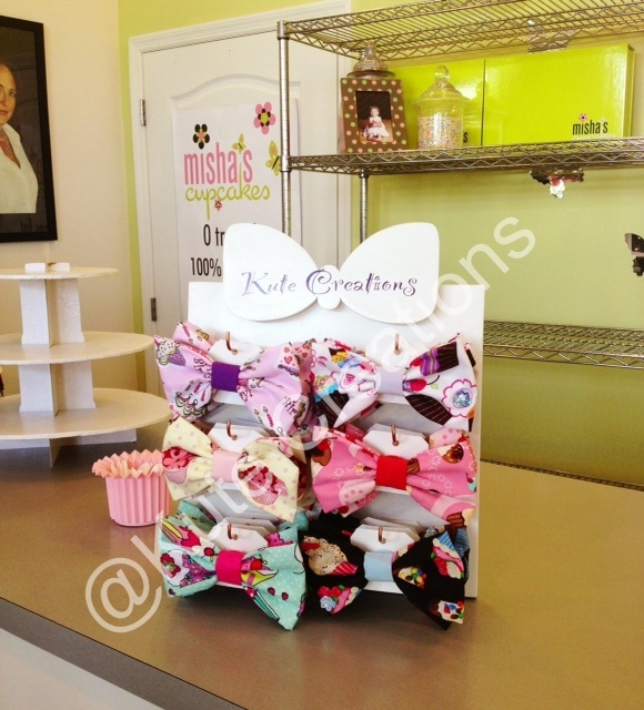Kute Creations 'Misha's Exclusive' Cupcake bows  Misha's Cupcakes:  1548 South Dixie Hwy Miami, FL 33146
