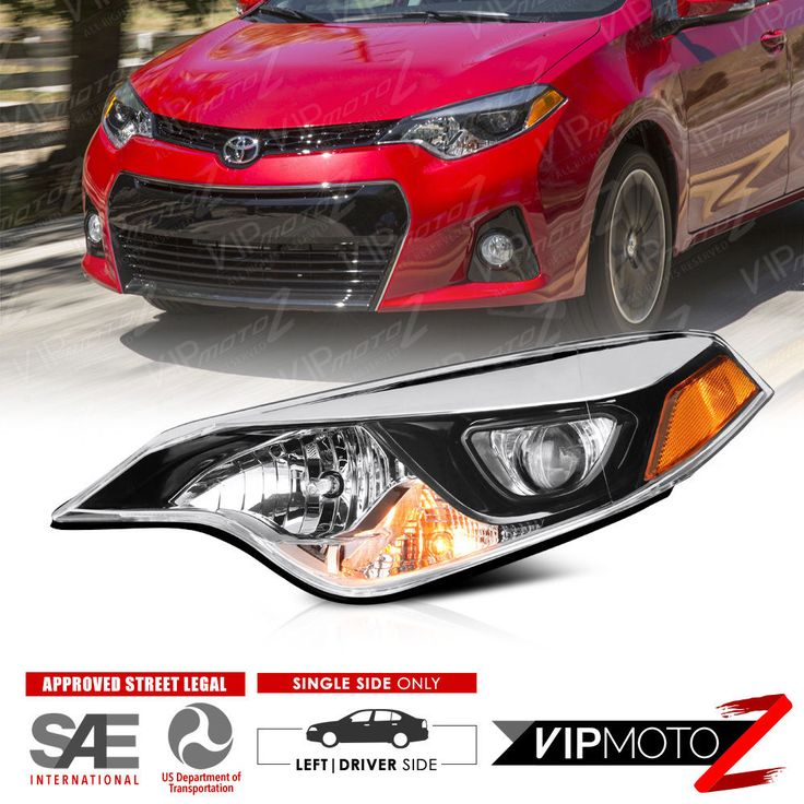 Nice Awesome 2014-2016 Toyota Corolla LE S Driver Side Chrome Factory Headlight Replacement 2018