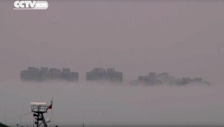 Opnieuw zwevende stad boven China – (VIDEO)