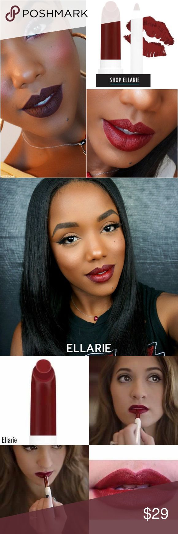 """Nip/Ellarie LippieStix+Ellarie LippiePencil/Set NIP/COLOURPOP Ellarie 2-Piece Set/CREATED for this very Beautiful Women/Ellarie/& like the LADY/it's a DEEP SULTRY CRANBERRY w matte finish. Directions: """"Wear w Confidence""""COLOURPOP  made it easy 4-U– every Lippie Stix + matching Lippie Pencil that was designed 2 match its partner perfectly. However, we're not trying 2-B a bossy pants & tell U creative lovelies what 2 do. So, if U want 2 create an Ombre lip look or something, have fun…"""