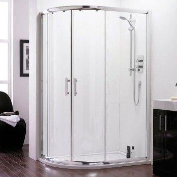 Elegante 1200mm x 900mm Double Offset Quadrant Shower Doors