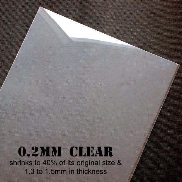 Shrink Plastic Film Transparent Shrinkable Plastic Sheet Shrinking Plastic Kawaii Charm Pin Making Paper Craft Supplies Transform From 0 2mm To 1 5m Plastic Sheets Paper Craft Supplies Craft Supplies